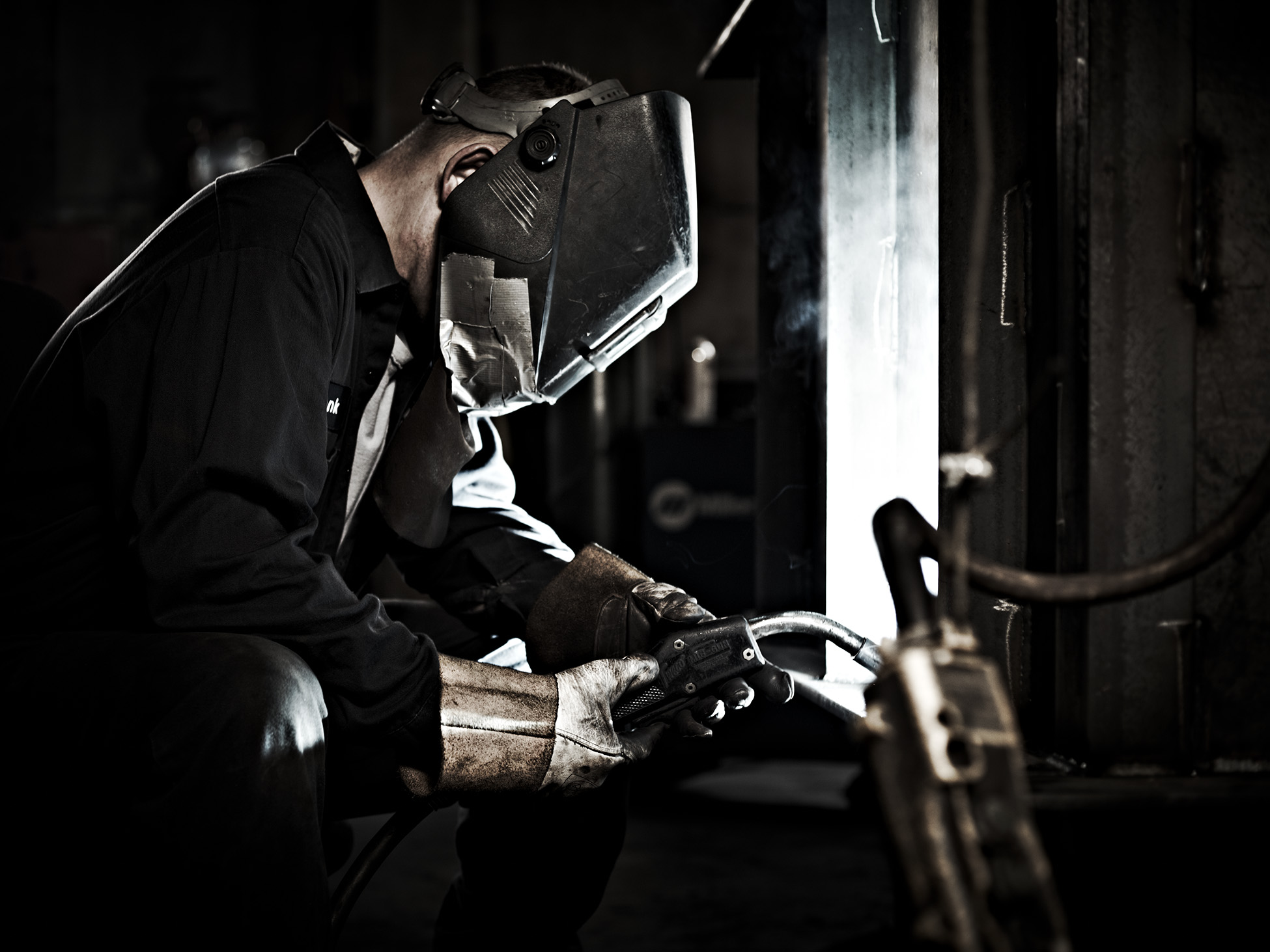 Commercial Photography Portrait of an Industrial Welder by Travis Neely Photography