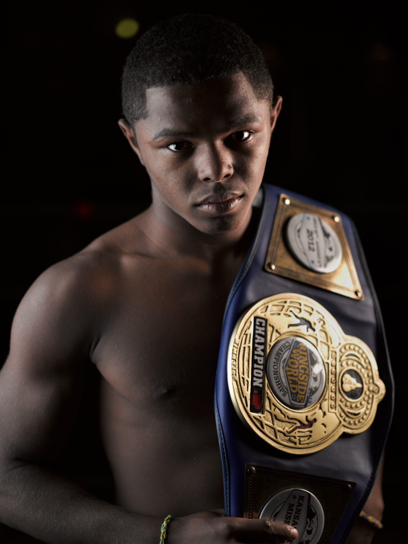portrait of a boxer, lifestyle photography by commercial photographer Travis Neely