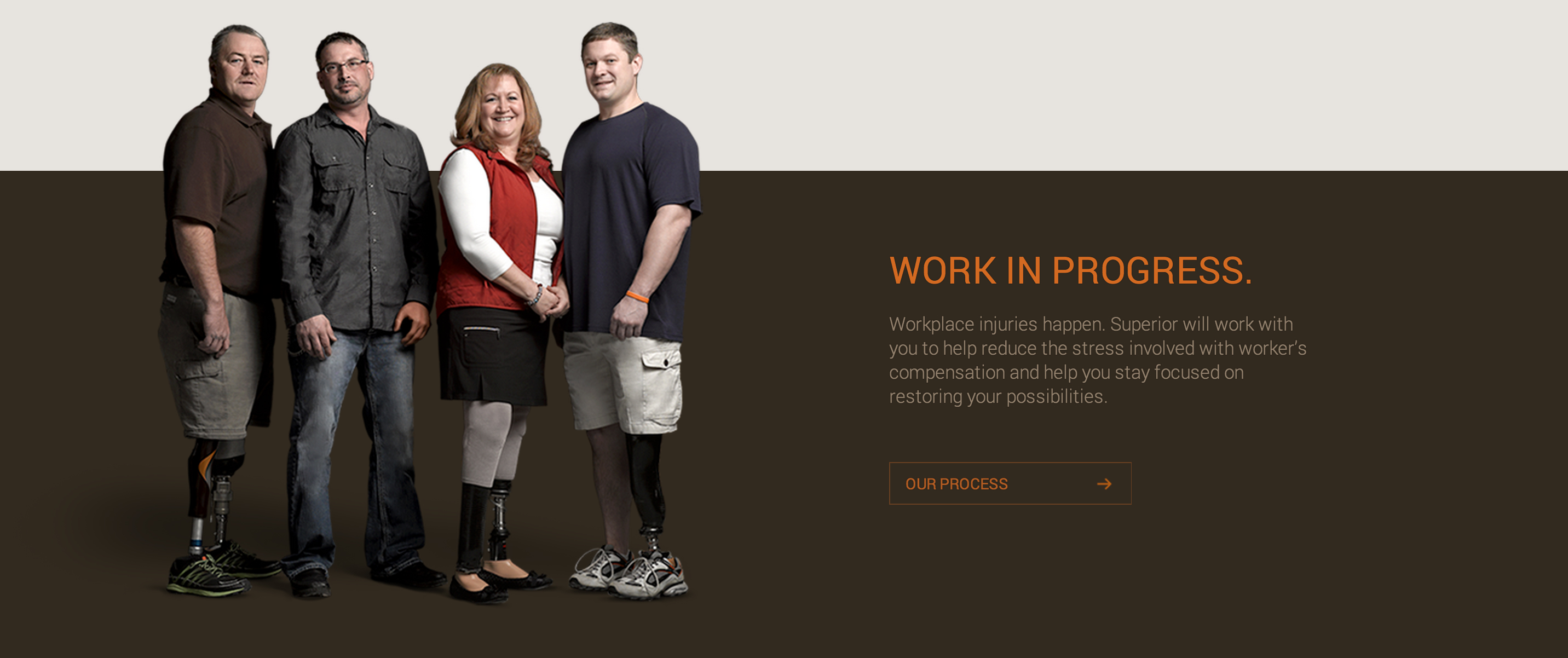 screen shot of the superior prosthetics website
