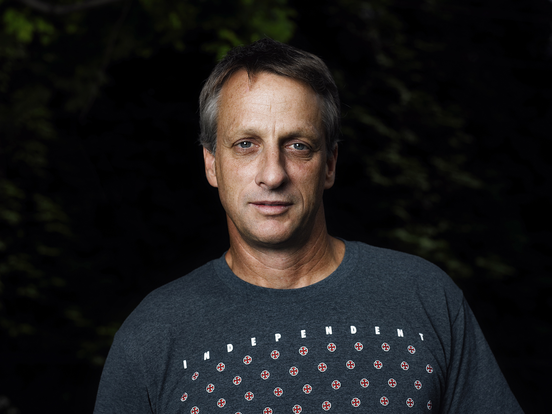 Portrait of skater Tony Hawk, by Travis Neely Photography